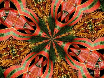 Photograph - Christmas Decorations Kaleidoscope Abstract 1 by Rose Santuci-Sofranko