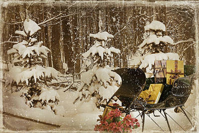 Wintry Mixed Media - Christmas Delivery by Maria Dryfhout