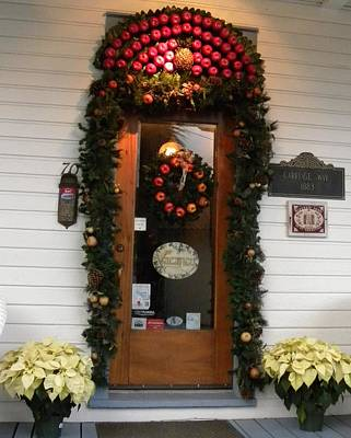 Photograph - Christmas Door by Kim Zwick