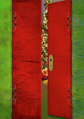 Digital Art - Christmas Doors by Larry Bishop