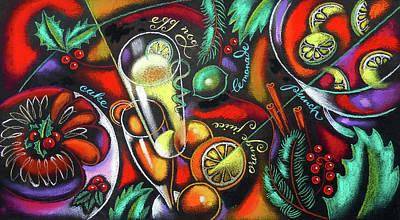 Painting - Christmas Drinks  by Leon Zernitsky