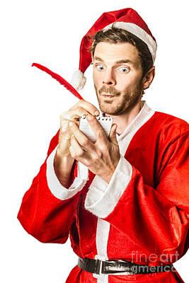 Wish List Photograph - Christmas Elf Writing To Do List For Santa by Jorgo Photography - Wall Art Gallery