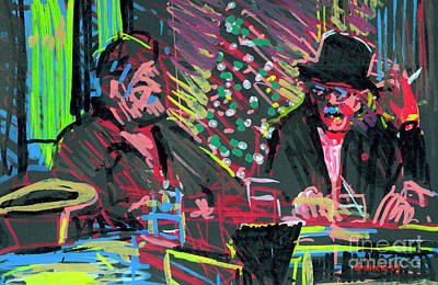 Painting - Christmas Eve At The Metro by Candace Lovely