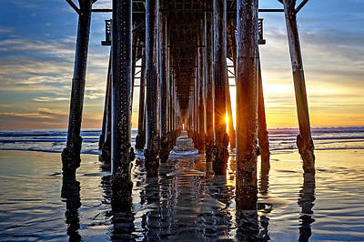 Pier Photograph - Christmas Eve At The Pier by Ann Patterson
