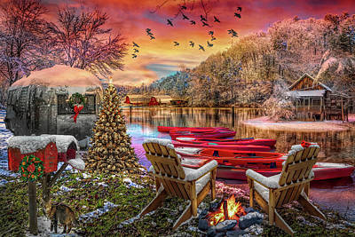 Photograph - Christmas Eve Camping In Hdr Detail by Debra and Dave Vanderlaan