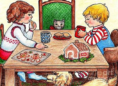 Drawing - Christmas Eve by Dee Davis