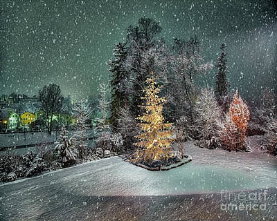 Digital Art - Christmas Eve by Edmund Nagele