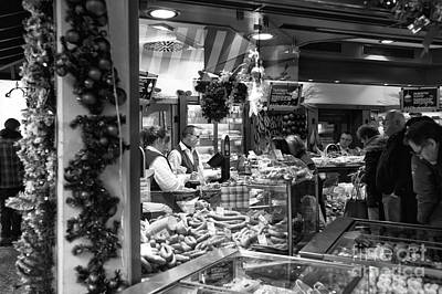 Photograph - Christmas Eve Food Shopping by John Rizzuto