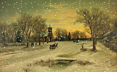 Cold Lake Drawing - Christmas Eve by Helen Barth