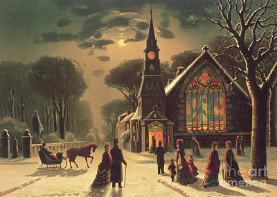 Couple Painting - Christmas Eve by J Latham