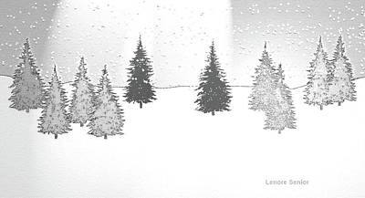 Christmas Eve Art Print by Lenore Senior