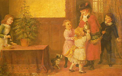 Welcome Home Painting - Christmas Eve by Rose Maynard Barton