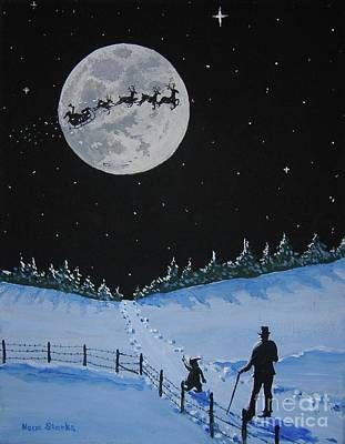 Painting - Christmas Eve Stroll by Norm Starks