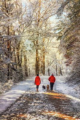 Photograph - Christmas Eve Walk by Debra and Dave Vanderlaan