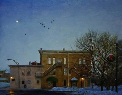 Painting - Christmas Evening by Wayne Daniels