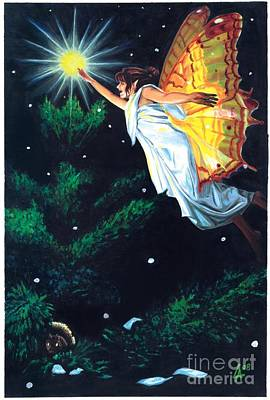 Painting - Christmas Faerie by Linda Laforge