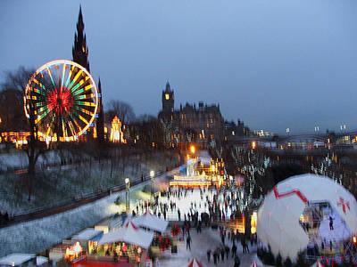 Christmas Fair Edinburgh Scotland Original