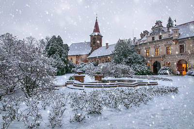 Photograph - Christmas Fairytale At Pruhonice Castle by Jenny Rainbow