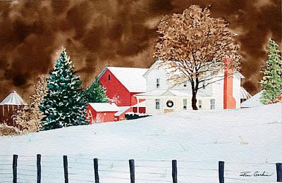 Christmas Farm I Original by Jim Gerkin