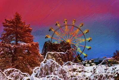 Winter Photograph - Christmas Ferris Wheel 3 by Viktor Birkus
