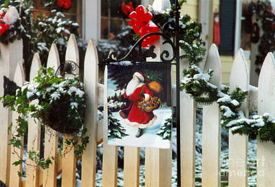 Photograph - Christmas Flag by Dale Powell