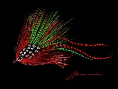 Christmas Fly Art Print