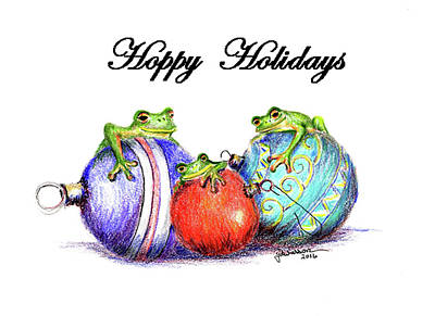 Photograph - Christmas Frogs by Jacqueline  DiAnne Wasson