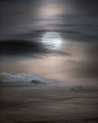 Christmas Full Moon Art Print by Bill Wakeley