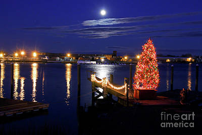 Photograph - Christmas Full Moon by Butch Lombardi