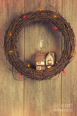 Fairy Doors Photograph - Christmas Garland by Amanda Elwell