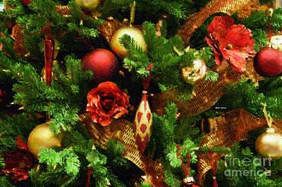 Digital Art - Christmas Garland by Rafael Salazar