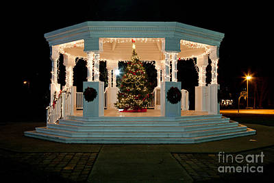 Photograph - Christmas Gazebo by Butch Lombardi