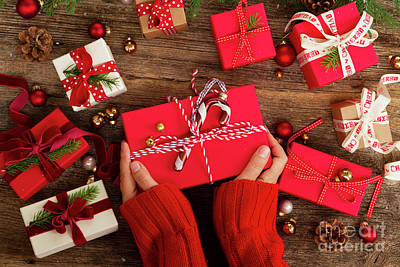 Photograph - Christmas Gift Giving by Anastasy Yarmolovich