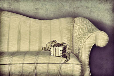 Sofa Photograph - Christmas Gift by HD Connelly
