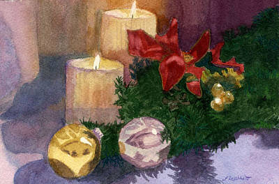 Painting - Christmas Glow by Lynne Reichhart