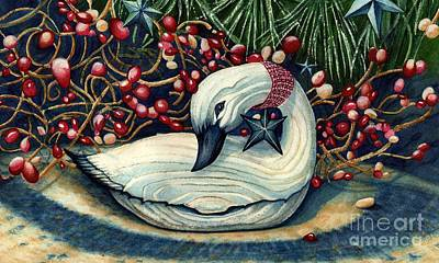 Christmas Goose Art Print