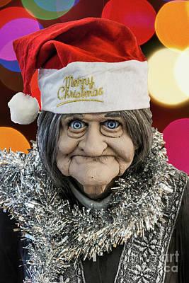 Photograph - Christmas Grandma Bokeh by Steve Purnell
