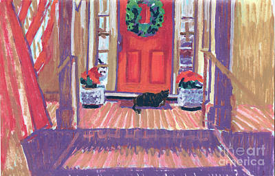 Painting - Christmas Greetings By Lily And Dixie by Candace Lovely
