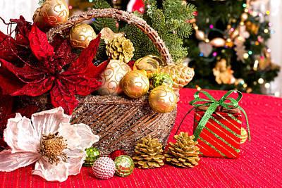 Christmas Greetings  Art Print by Marina Kojukhova