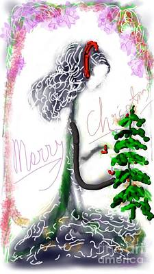 Digital Art - Christmas Greetings by Subrata Bose