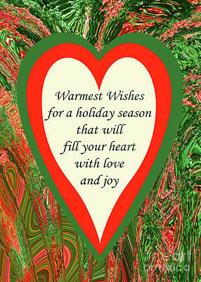 Christmas Patents Rights Managed Images - Christmas Heart Greeting Royalty-Free Image by Regina Geoghan