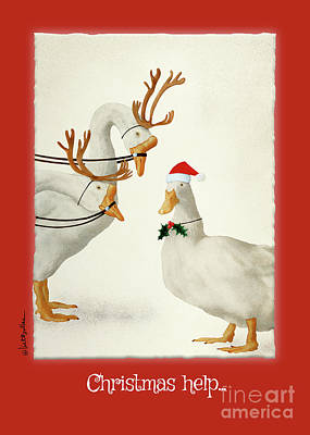 Painting - Christmas Help... by Will Bullas