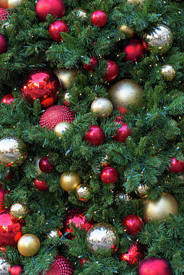 Photograph - Christmas Holiday Tree Decoration Background by David Gn