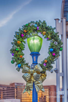 Photograph - Christmas Holiday Wreath With Balls by David Zanzinger