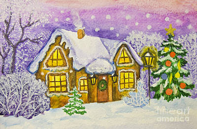 Painting - Christmas House by Irina Afonskaya