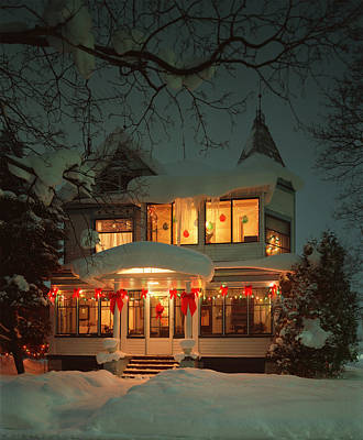 Christmas House Art Print