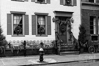 Greenwich Village Photograph - Christmas House by John Rizzuto