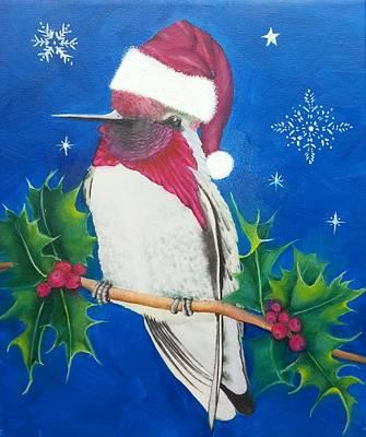Painting - Christmas Hummer by Mishel Vanderten