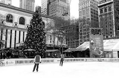 Photograph - Christmas Ice Skating At Bryant Park by John Rizzuto
