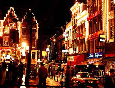 Christmas In Amsterdam Original by Nancy Mueller